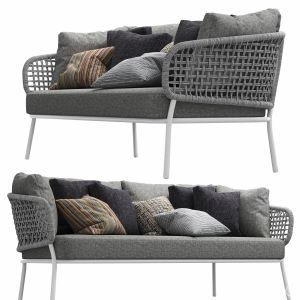 Moon Alu Two-seater Sofa