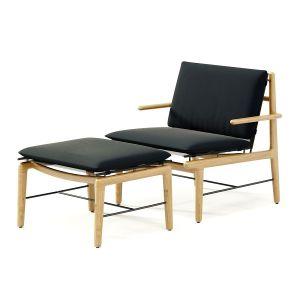 Dwr Outdoor Finn Lounge Chair + Ottoman
