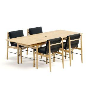 Dwr Outdoor Finn Dining Table + Chair