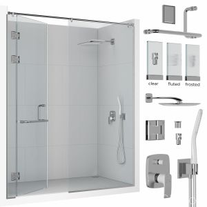 Frameless Shower Set 01