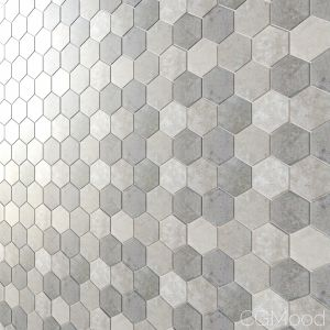 Hd 3d Mosaic Hexagon Matt 4 Types