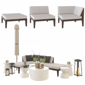Crate And Barrel Elba Sectional Outdoor Set