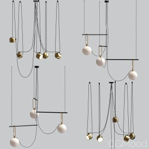 Flos Aim And Ceiling Light Pendant Gold