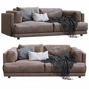 Living Divani Leather Sofa Family Lounge