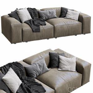 Livingdivani  Leather Sofa Extra Wall