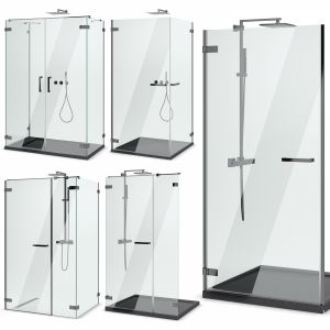 Cabin Showers Radaway | Arta Black Set 102
