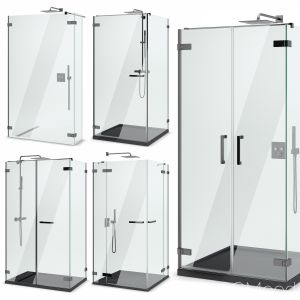 Cabin Showers Radaway | Arta Black Set 103