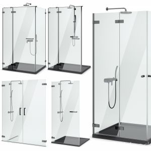 Cabin Showers Radaway | Arta Black Set 104