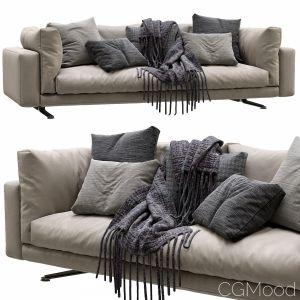 Livingdivani Leather Sofa Floyd Hi