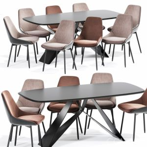 Kendall Upholstered Dining Chair Table