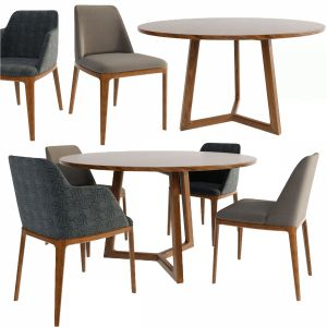 Poliform Grace Dining Chair Set