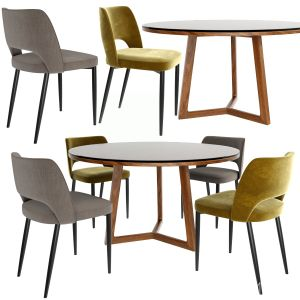 Poliform Dining Chair Set