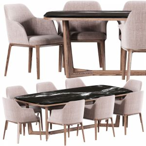 Poliform Sophia Dining Chair Set