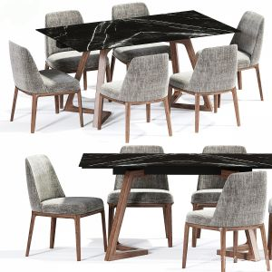 Poliform Sophie Dining Chair Table