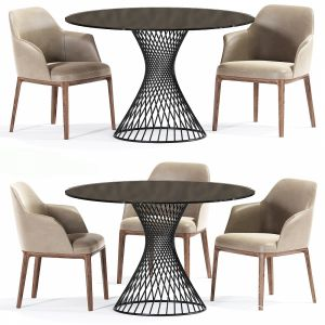 Poliform Sophia Table Chair