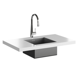 Smeg Md14cr Tap And Vstq40-2 Undermount Sink