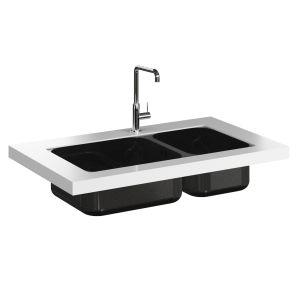 SMEG MC18B Tap and UM4350 Undermount Sink