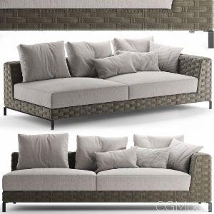 Sofa Bebitalia Ray Outdoor Natural