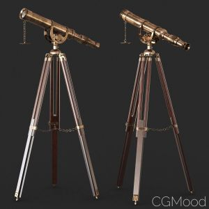 Vintage Antique Tripod Telescope