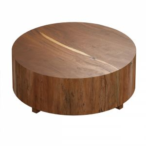 Dillon Natural Yukas Round Wood Coffee Table