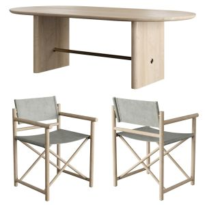 Crate And Barrel: Table Oli And Chairs Director's