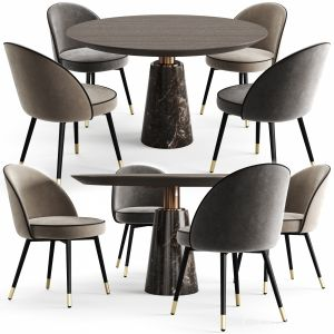 Eichholtz Dining Table Genova And Chair Cooper