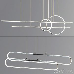 Chute Calypso Linear Suspension Light Collection