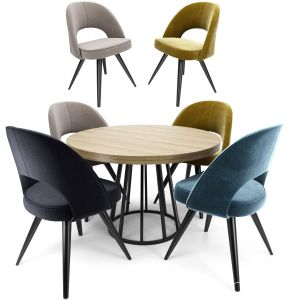 Modrest Gloria Chair With Round Table