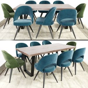 Modrest Gloria Chair With Calia Dining Table