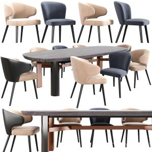 Modrest Carlton Dining Chair Table
