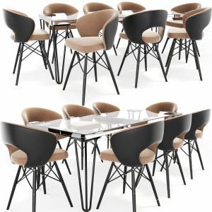Oslo Dining Table Chair Set