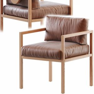 Eve Dining Chair In Leather (wnt)