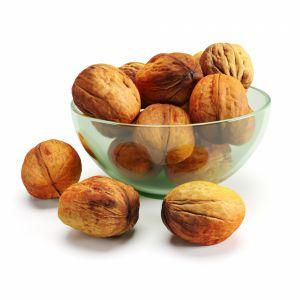 Walnuts In Glass Vase