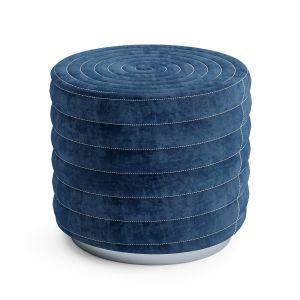 Round Spiral Pouf