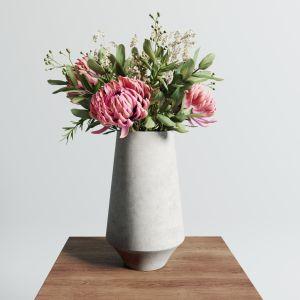 Chrysanthemum Vase Set