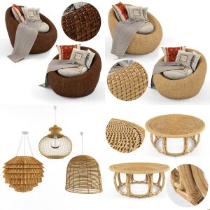 furniture natural rattan