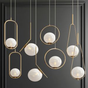 Four Hanging Lights_57 Milk Bubble