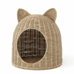 Cat house wicker basket