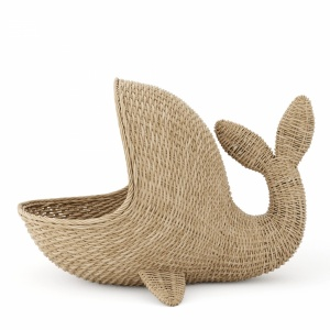 Wicker basket whale