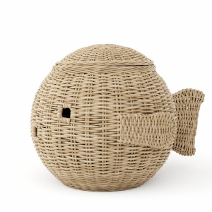 Wicker basket fish