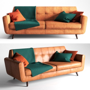 Hughes leather sofa by Joybird