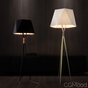 Solitaire floor lamp by CVL Luminaires