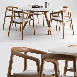 Solid chair & Torsa Table by Manutti