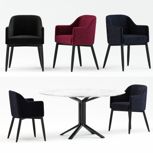 Meridiani Lola Chair+miller tables