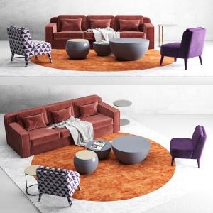 Meridiani hector sofas set