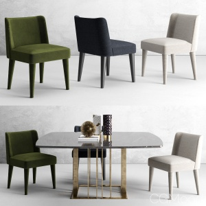 Kita chair and Charlie tables by Meridiani
