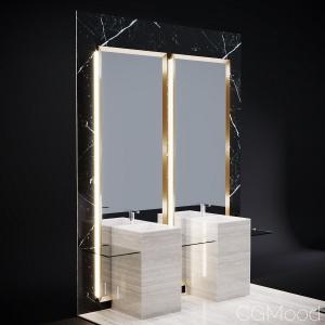 Bathroom Mirror Wall