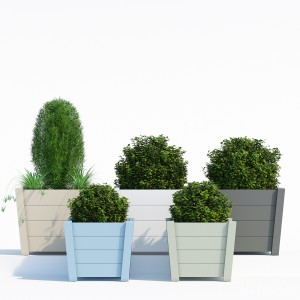 Acacia Hardwood Tapered Square Planter