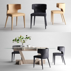 Melrose Dining Chair+Zepher Dining Table