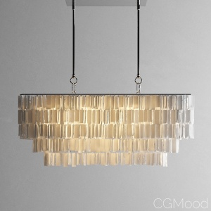 Hanging Capiz Chandelier by West Elm